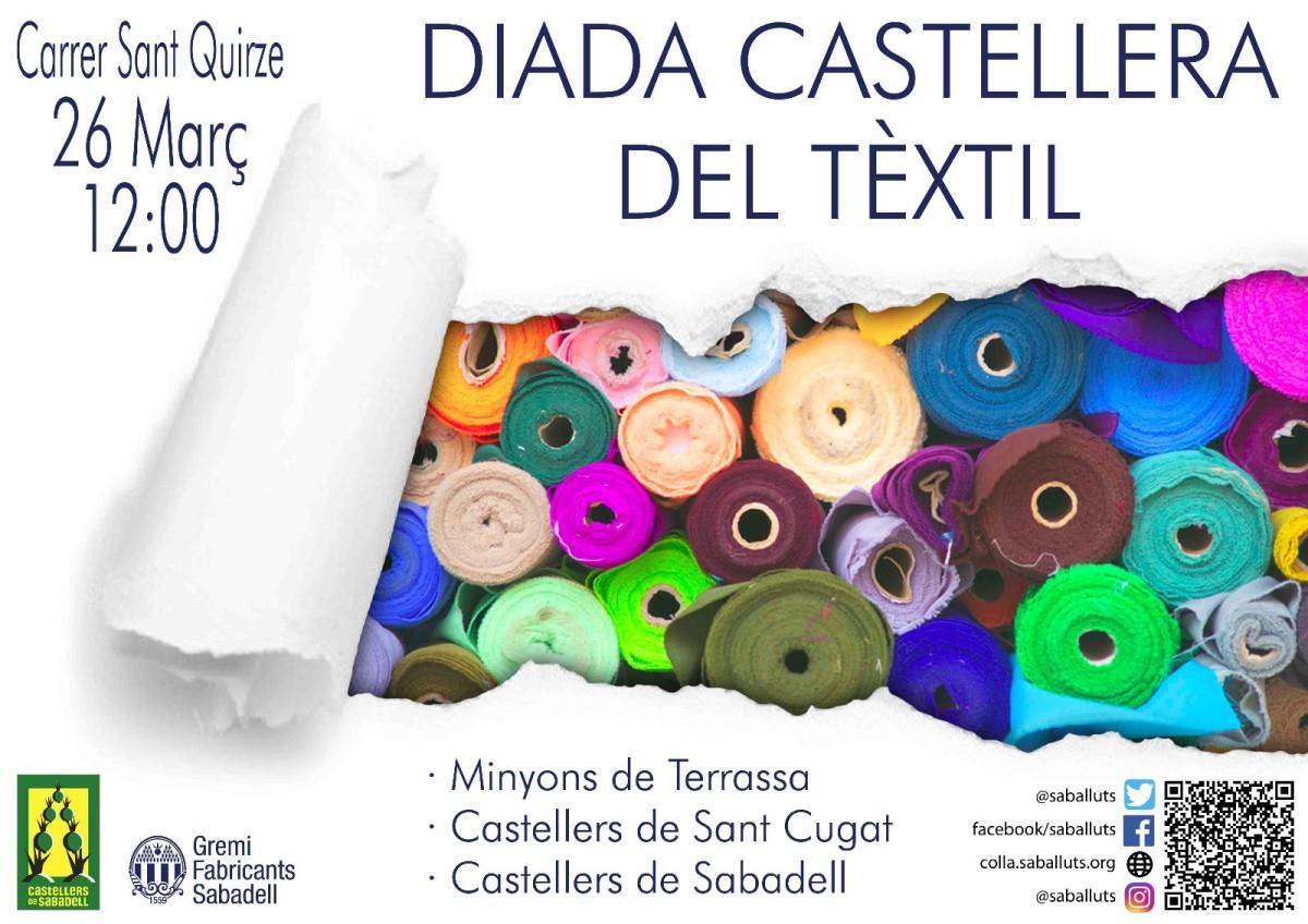 cartell diada tèxtil castellera