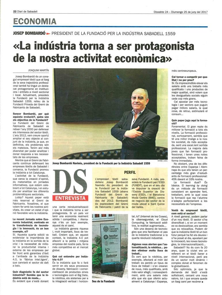 2017_06_24_25_ds_Fundacio indústria_Gremi_entrevista_Josep Bombardó