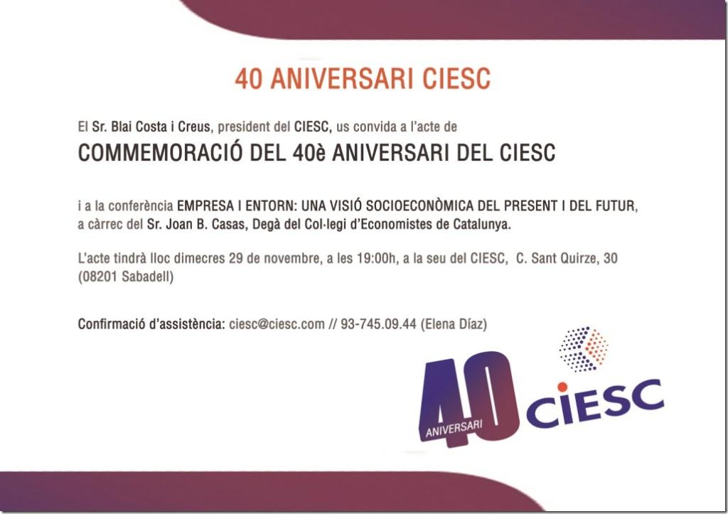 Targetó 40 anys CIESC