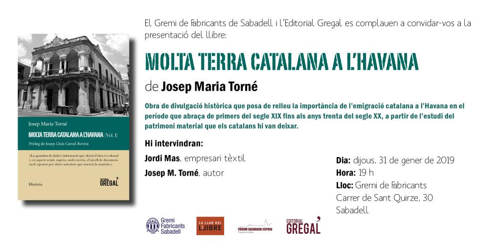 Invitació MOLTA TERRA CATALANA HAVANA_Sabadell