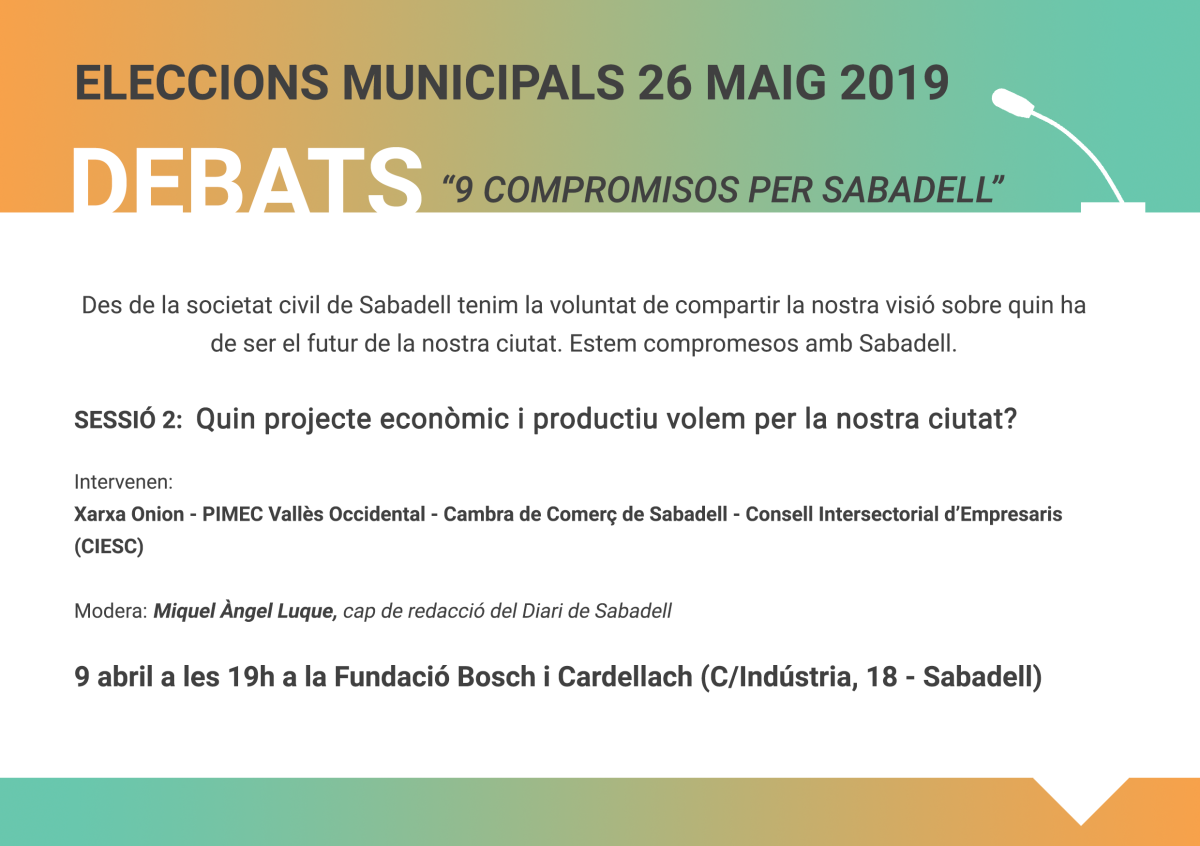 Debats electorals_9 compromisos Sabadell