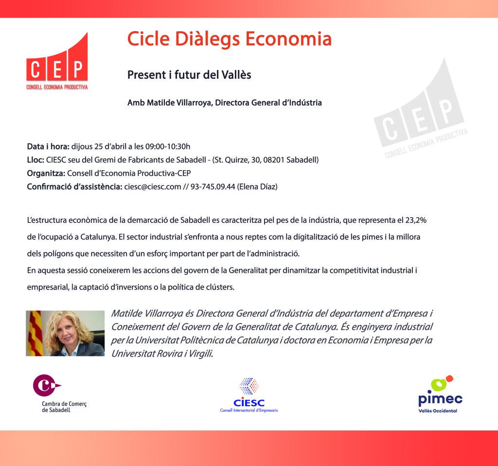Diàlegs economia CEP Sra Matilde Villarroya