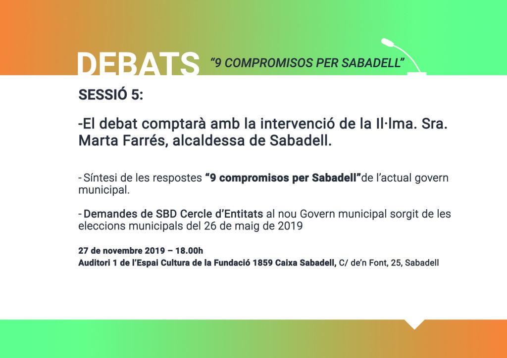 5 Debats_ 9 compromisos x Sabadell_cercle entitats